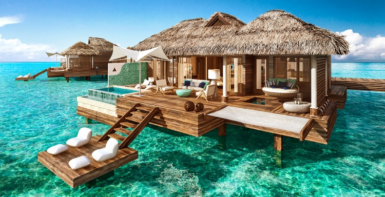 Over the water suites Sandals