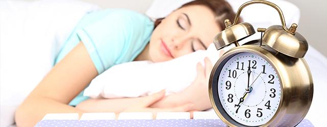 Sleep well before a long flight