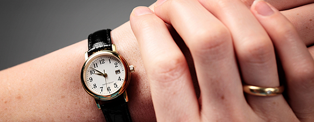 Set your watch to your new time zone in advance