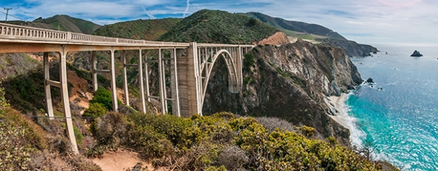 Bixby Bridge on the Pacific Coast Highway