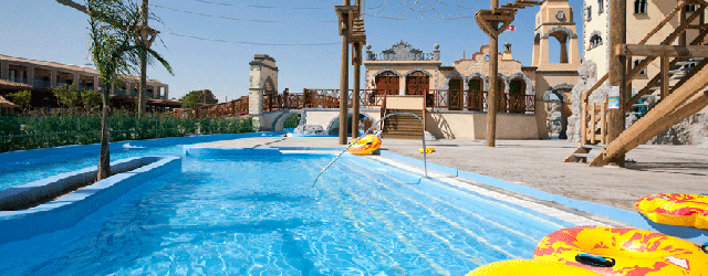 Families can enjoy themselves at the Holiday Village, Rhodes