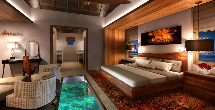 Over the water suites Sandals interior
