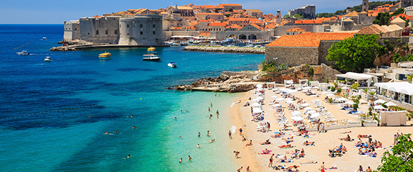 Panoramic view of the Old Town of Dubrovnik, Croatia