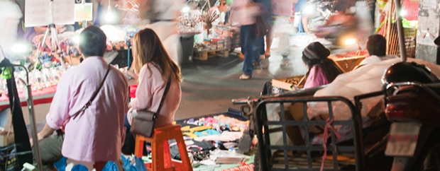 Bangkok's food markets are always bustling