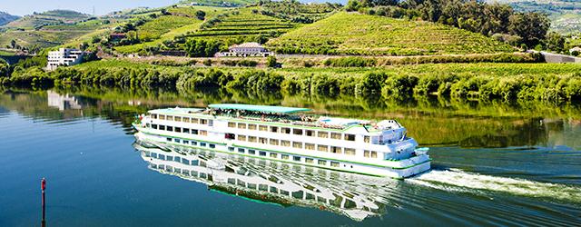 A river cruise ship in Douro Valley, Porutgal