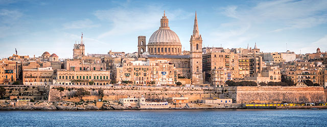 Valletta skyline and St. Pauls Cathedral