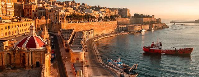 Ancient walls in Valletta