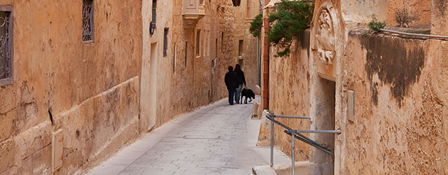 A picturesque street in Mdina