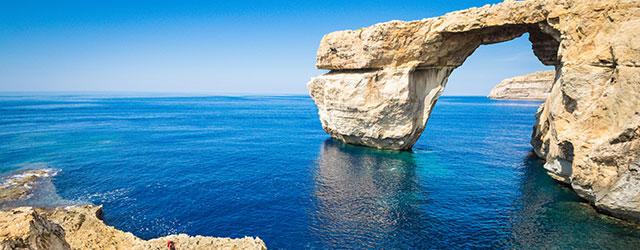 The world famous Azure Window on Gozo Island