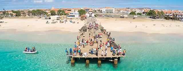 A beach in Cape Verde